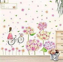 Juabc Kunst Aufkleber Mode Niedlichen Blumen