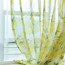 JUANstore Verdunkelungsvorhang Zitrone Muster