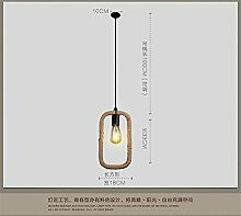 Jubaopen Die Sisal bar Kronleuchter kreative Nordic minimalistischen Eisen Jugendstil geschäfte Bars Korridor gang Geometrie Lampe