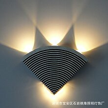 Jubaopen Wandleuchte Led Ventilator Ventilator Aluminium Wandleuchte 4W Korridor Gang Lampe Ecke Licht Laterne, Grün