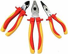 Judge Werkzeuge VDE isoliert Sicherheit Zangen Set von 3inklusive Kombination und Diagonal Schneiden und lange Nase