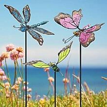 Juegoal Schmetterling Gartenstecker 86,4 cm Dekor,