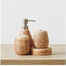 Jueven Badaccessoires-Set - 4 Sets aus Keramik mit