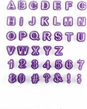 JUEYAN 40 Teile Ausstechformen Buchstaben Und