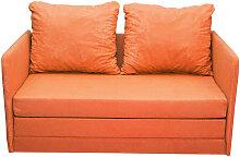 JUGEND- UND KINDERSOFA Mikrofaser Orange
