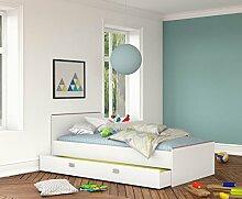 Jugendbett Bettkasten Gästebett Weiß