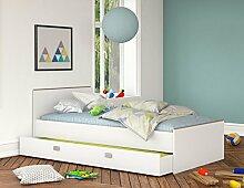 Jugendbett inkl. Bettkasten 90*200 weiß