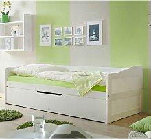 Jugendbett mit Gästebett Weiß