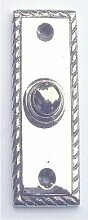 Jugendstil Art Deco Klingel Nickel #K17-N
