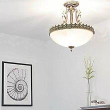 Jugendstil Lampe/Deckenleuchte rund / 3x E27 bis