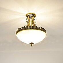 Jugendstil Lampe Deckenleuchte rund 3x E27 bis 60W