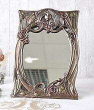 Jugendstil Spiegel Frauenkopf Tischspiegel