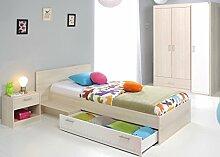 Jugendzimmer Chiron 14 Akazie Nb Jugendbett 90x200 Kinderbett Bett Nachttisch Nako Kleiderschrank Schrank Kinderzimmer