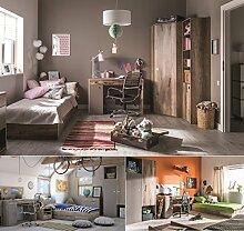 Jugendzimmer Kinderzimmer KARIBIK komplett Set C Eckschrank Standregal Bett 90x200 mit Schublade Schreibtisch NEU