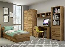 Jugendzimmer Kinderzimmer komplett FOREST Set C Schrank Standregal Kommode Schreibtisch Wandregal Bett 200x90 mit Bettkasten neu