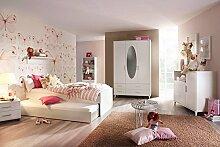 Jugendzimmer, Kinderzimmer, Komplett-Set, Jugendmöbel, Kleiderschrank, Bett 90 x 200 cm, Nachtschrank, Kinderzimmer, Kindermöbel, 3-teilig, Mädchen
