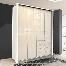 Jugendzimmer Kleiderschrank in Creme Weiß Glas