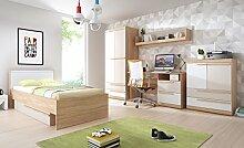 Jugendzimmer Komplett HAPPY Kleiderschrank, Bett,