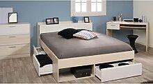 Jugendzimmer Morris 59 Akazie Bett 140x200 Schreibtisch Kommode Schubkastenkommode Jugendbett Singlebe