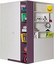 Jugendzimmer Schrank Lila 195x135x135 cm
