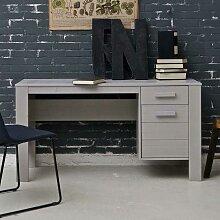 Jugendzimmer Schreibtisch in Beton Grau Kiefer