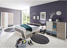 Jugendzimmer Set mit Bett 140x200 cm 4-teilig