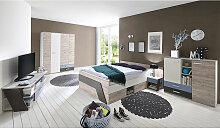 Jugendzimmer Set mit Bett 140x200 cm 5-teilig