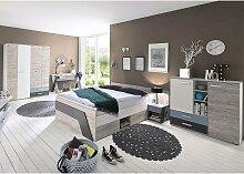 Jugendzimmer Set mit Bett 140x200 cm und