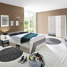 Jugendzimmer Set mit Kojenbett 140x200 cm in