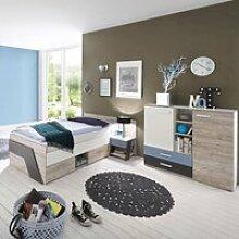 Jugendzimmer Set mit Kommode 3-teilig LEEDS-10 in