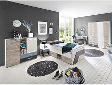 Jugendzimmer Set mit Schreibtisch 5-teilig
