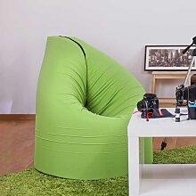 Jugendzimmer Sitzsessel in Grün Grau Webstoff