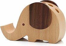 JUIANG Handyständer Holz Multifunktions Elefant