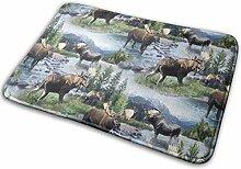 JUKA rutschfeste Fußmatten Bull Moose Nature