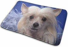 JUKA rutschfeste Fußmatten Chinese Crested Dog