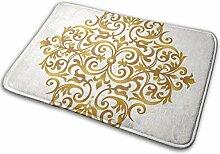 JUKA rutschfeste Fußmatten Gold Mandala Teppich
