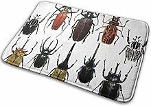 JUKA rutschfeste Fußmatten Large Beetle Teppich