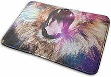 JUKA rutschfeste Fußmatten Löwendruck Teppich