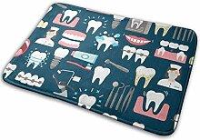 JUKA rutschfeste Fußmatten Nahtloses Dentalmuster