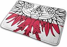JUKA rutschfeste Fußmatten Polnische Flagge