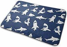 JUKA rutschfeste Fußmatten Shark Teppich für