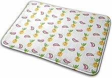 JUKA rutschfeste Fußmatten Teppich mit Ananas-