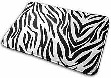 JUKA rutschfeste Fußmatten Teppich mit Zebradruck