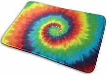 JUKA rutschfeste Fußmatten Tie Dye Teppich für