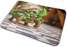 JUKA rutschfeste Fußmatten Turtle Sandwich