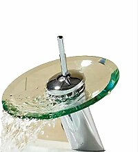 jukunlun Bad Wasserhahn Glas Wasserfall Wasserhahn
