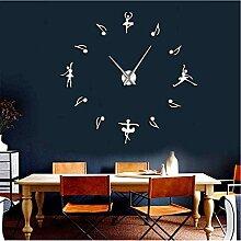 jukunlun Ballerinas Wand Dekor DIY Große Wanduhr