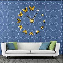 jukunlun Dekorative Spiegel Wanduhr Natur Fliegen