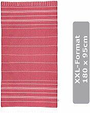 JuliJu XXL Badetuch Rot - 95 x 180 cm - Badelaken