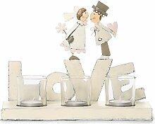 Jullar BIS 7818 Kerzenhalter, Brautpaar Love, groß